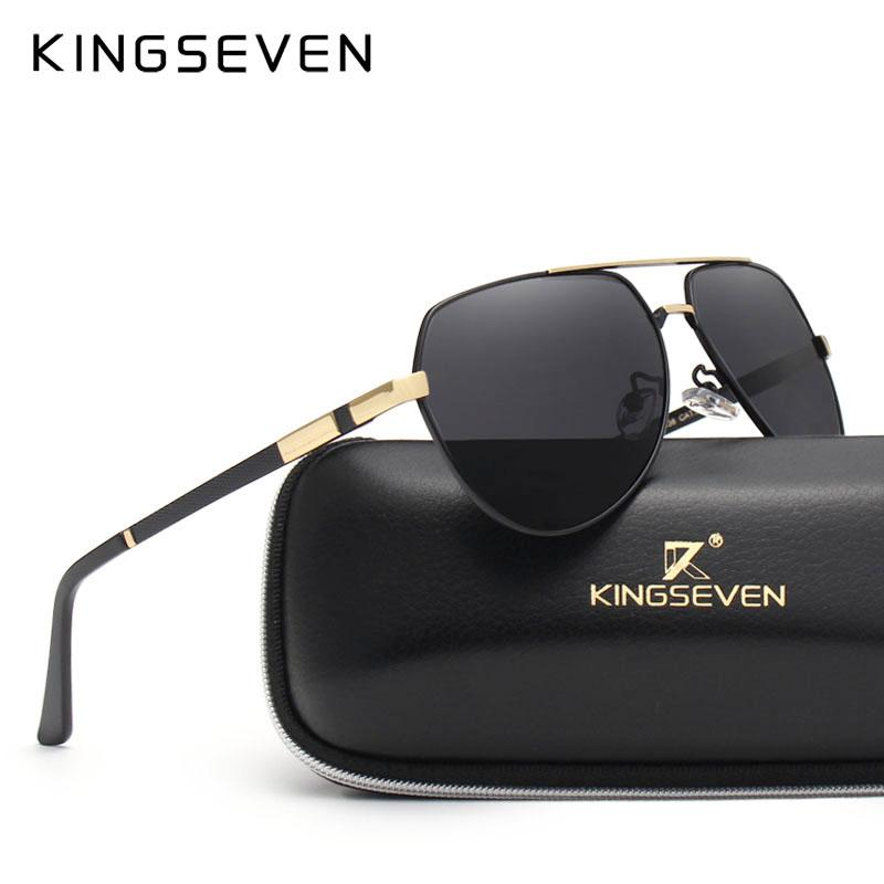 45bf8c11b47 KINGSEVEN Brand Fashion Design Sunglasses Men Polarized UV400 Eyes ...