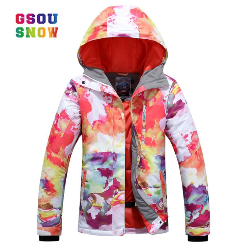 228d8a0085 GSOU SNOW New Ski Jacket Women Anti Pilling Snowboard Coats Waterproof  Thicken Windproof Female Breathable Anti Shrink Clothes UK 2019 From  Yerunku