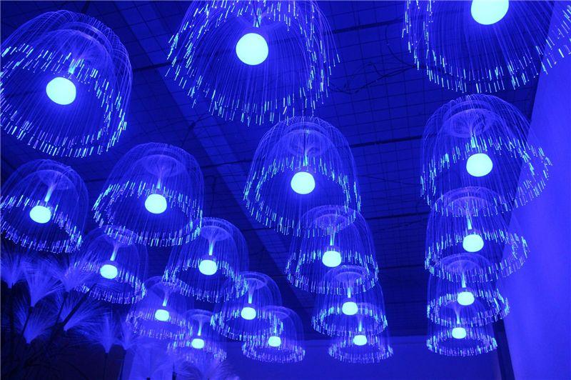 Illuminazione Esterna Lanterna : Acquista dmx512 rgb led fibra ottica simulazione medusa lanterna