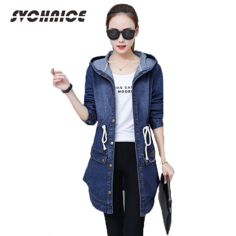 fc63960eebd 2018 Ladies Denim Jackets Women Long Sleeve Hooded Jaqueta Jeans Jacket  Plus Size Spring Autumn Denim Coat Jeans Outwear 3XL Y18102502 Windbreaker  Jackets ...