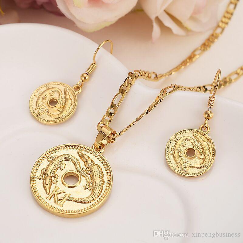 Großhandel Gelb Solid Gold Gefüllte Papua Neuguinea K1 Münze