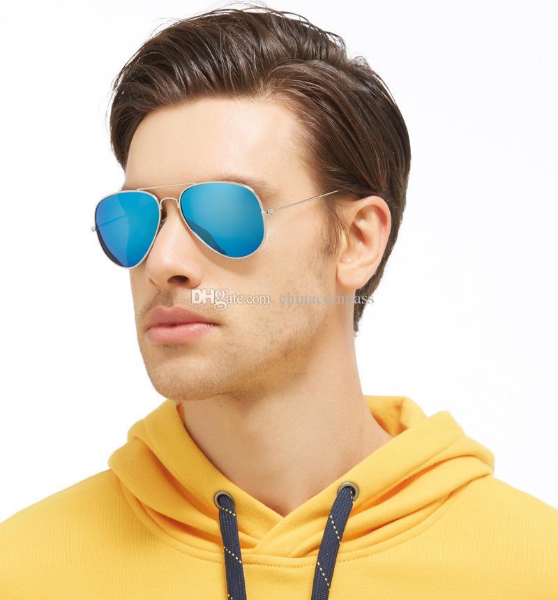 Classic Fashion Beach pilot Polarized Sunglasses flash Eyewear Driving Fishing for Men Women A3025
