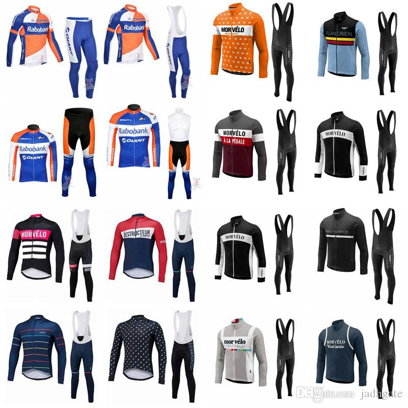 Morvelo Team Cycling Long Sleeves Jersey Bib Pants Sets Cycling Jersey  Clothing Sets Breathable 3D Gel Pants D1618 Best Cycling Jerseys Merino Wool  Cycling ... 00d1951da