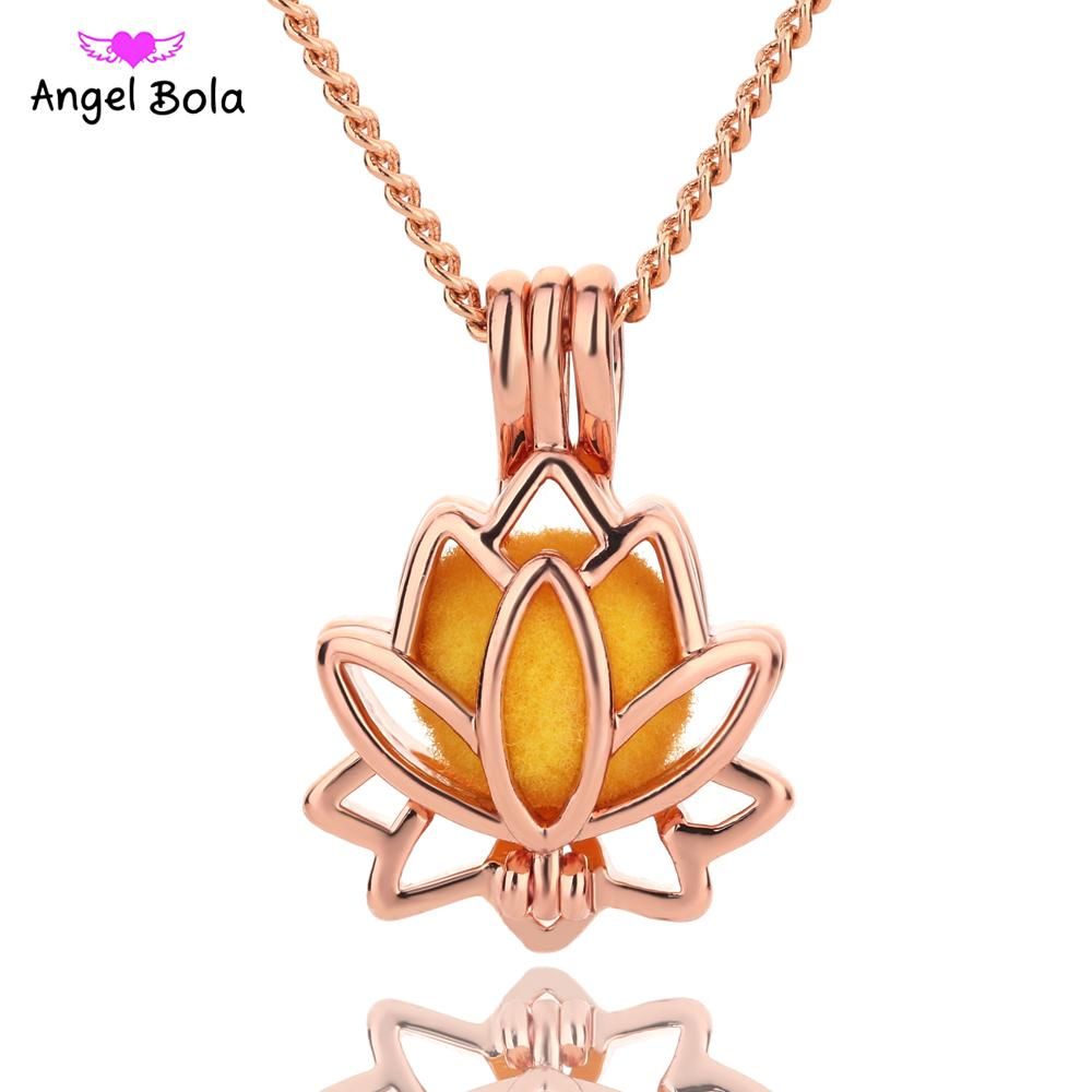 2018 bright rose creative lotus flower jewelry making supplies alloy 2018 bright rose creative lotus flower jewelry making supplies alloy beads cage pendant essential oil diffuser trendy jewelry l154 from starch izmirmasajfo