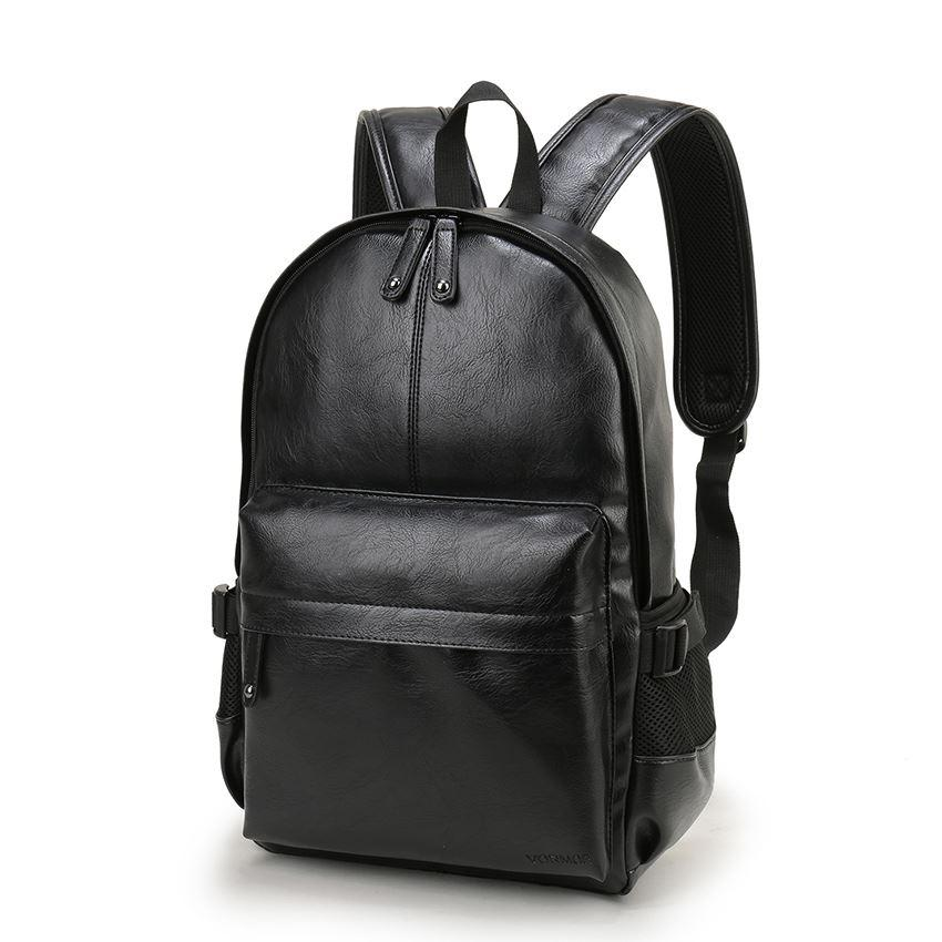 2c86eab5e Compre Estilo Preppy Mochila Escolar Couro Para Faculdade Design Simples  Homens Casuais Mochilas Mochila Masculina Novo De Bags_wallets, $29.0 |  Pt.Dhgate.