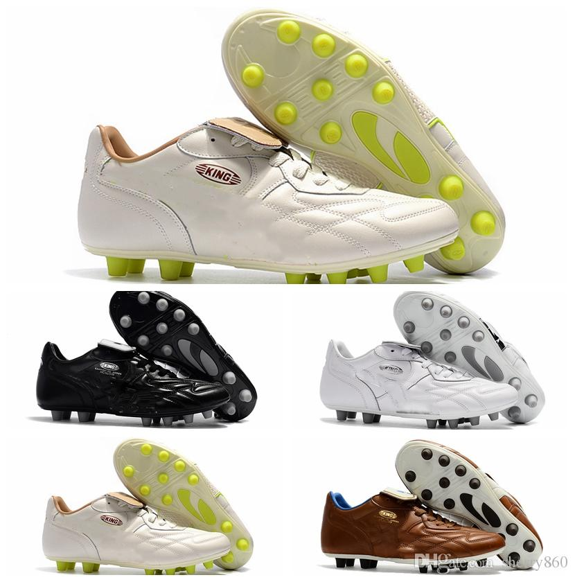 15173d5c1a6 2019 2018 Original Soccer Cleats King Top M.I.I CHROME FG Kangaroo Leather  Fg Soccer Shoes Mens Soft Ground Football Boots Cheap Black Brown New From  ...