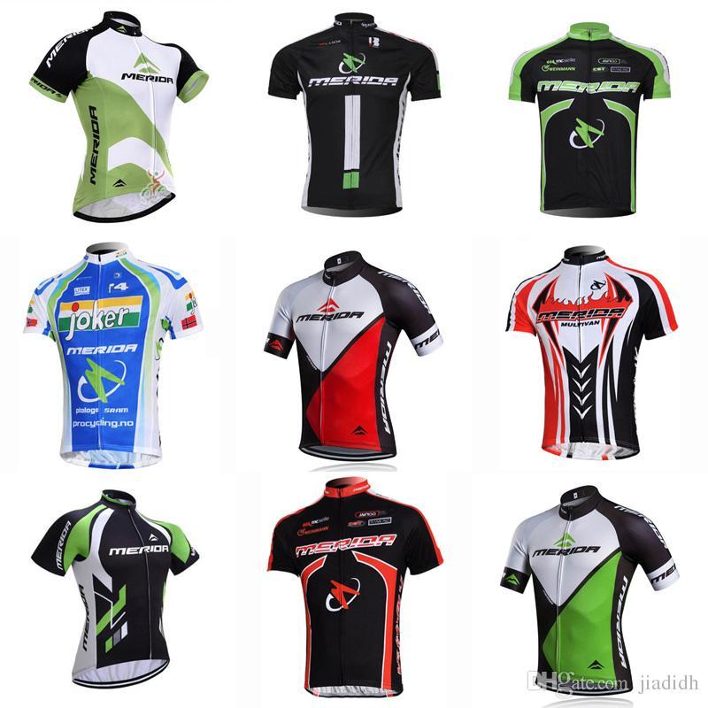 MERIDA Team Cycling Short Sleeves Jersey Men S Summer Cycling Professional  Team Mountain Bike Wear Sportswear Outdoor D311 T Shirts For Women Short  Sleeve ... a5d6d9136