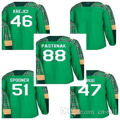 2019 Newest Green St. Patricks Day 2018 Boston Bruins 46 David Krejci 51  Ryan Spooner 88 David Pastrnak 47 Torey Krug Blank Hockey Jerseys From Cn  Sell 26e0b20a9
