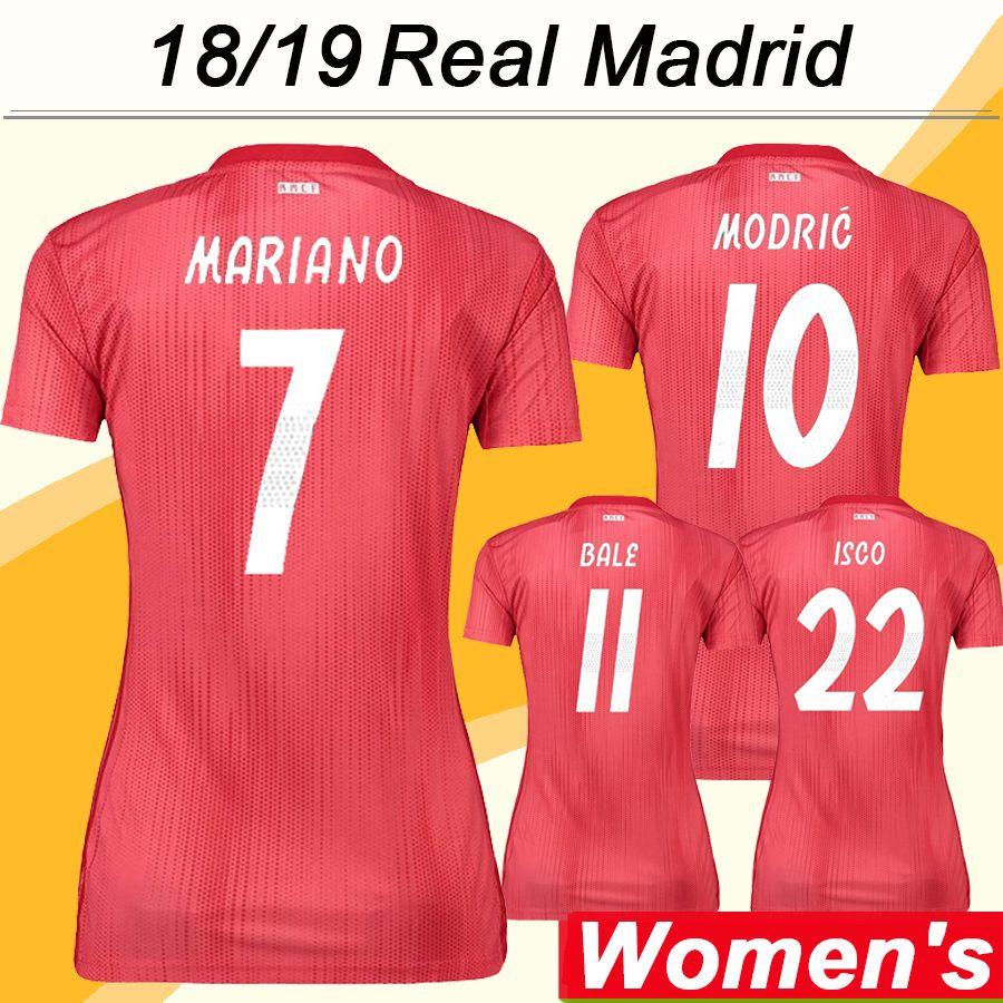 b0c8964ba 2019 2018 19 Real Madrid Women MODRIC Soccer Jerseys New SERGIIO ISCO RAMOS  KROOS BENZEMA MARCELO 3rd Football Shirts BALE Short Sleeve Uniforms From  ...