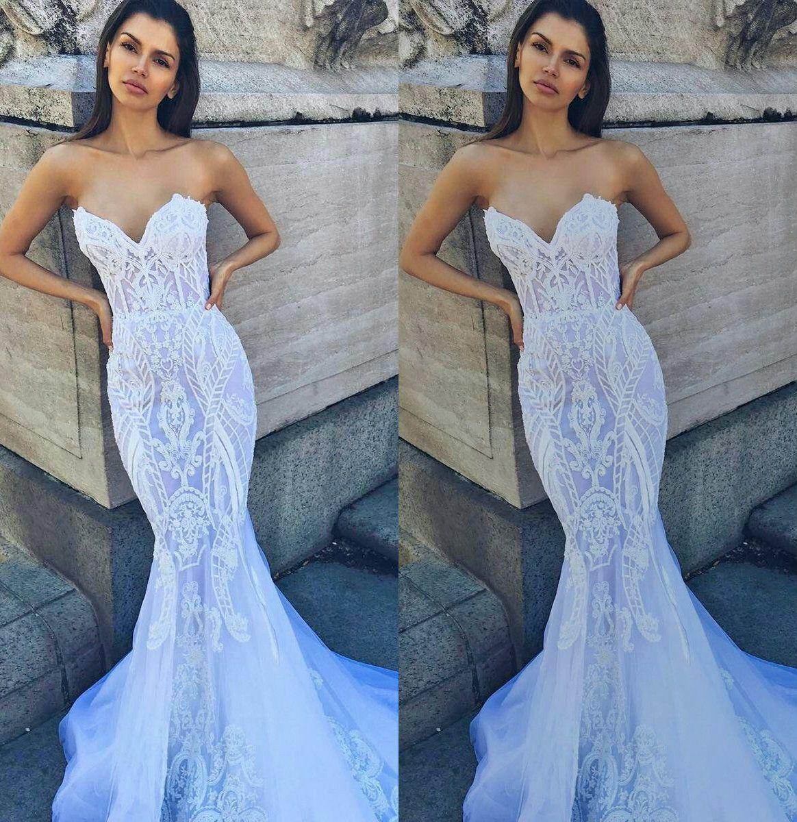 2018 Mermaid Wedding Dresses With Boning