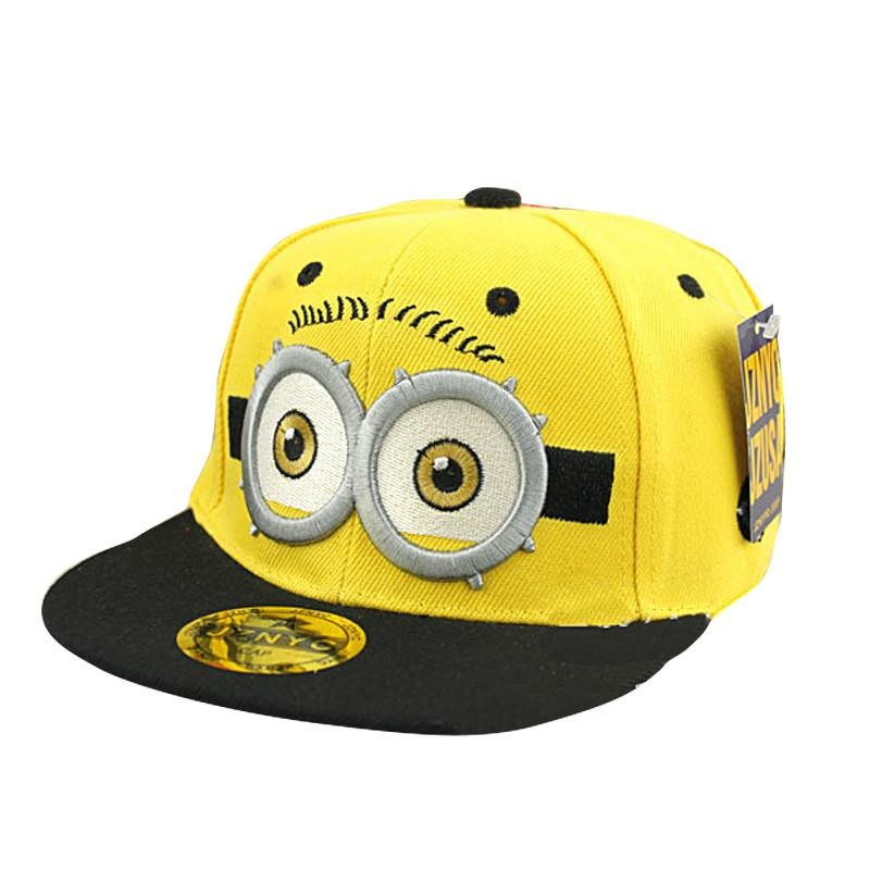 New Fashion Cartoon Cotton Minions Boys Girls Children Snapback Caps  Baseball Caps Sun Caps Hip Hop Hats 3 8 Years Kangol Baseball Caps From  Cfyh2018 c35854a3a109