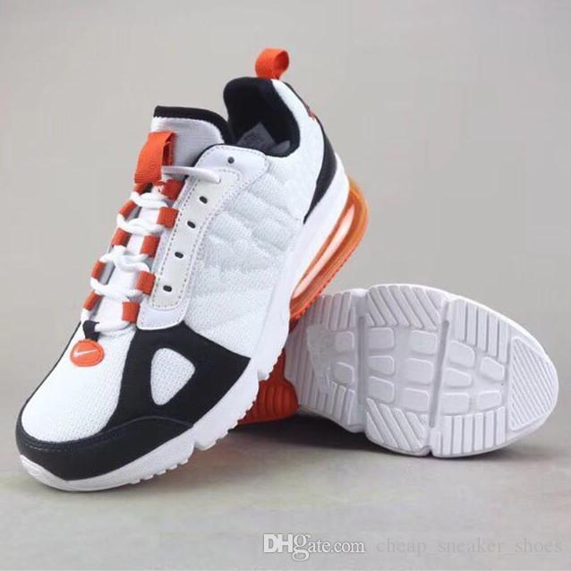 the latest 00b23 71ffe Acheter 2018 Pas Cher Vente 270 Futura Noir Blanc Bleu Orange Chaussures De  Course Pour Haute Qualité 270s Hommes Femmes Baskets Mode Baskets Taille 36  45 ...