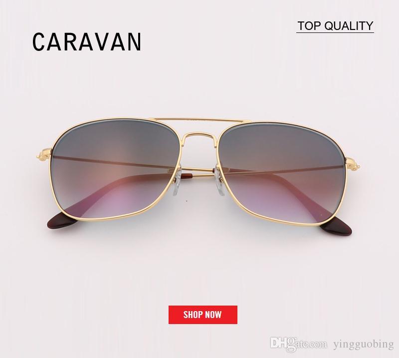 9bc9aa9f5f0 New Square Gradient Sunglasses Men Vintage Retro Brand Designer 3136 Luxury  Caravan Sun Glasses Male Oculos De Sol Retro Gafas With Case Sunglasses  Brands ...