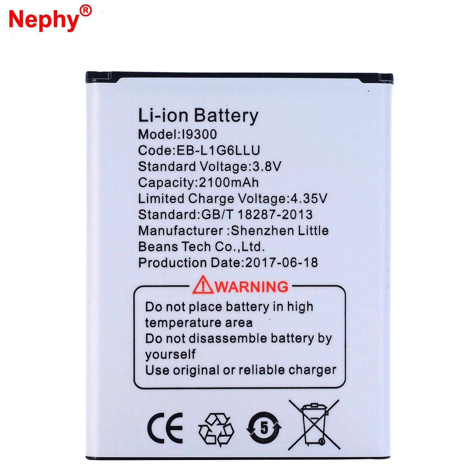 New Nephy Original Battery For Samsung Galaxy SIII S3 I9300 I9301I I9300i Grand Neo I9128 I9128V I9168i I9118 E170k E210 2100mAh line with $18 45 Piece on