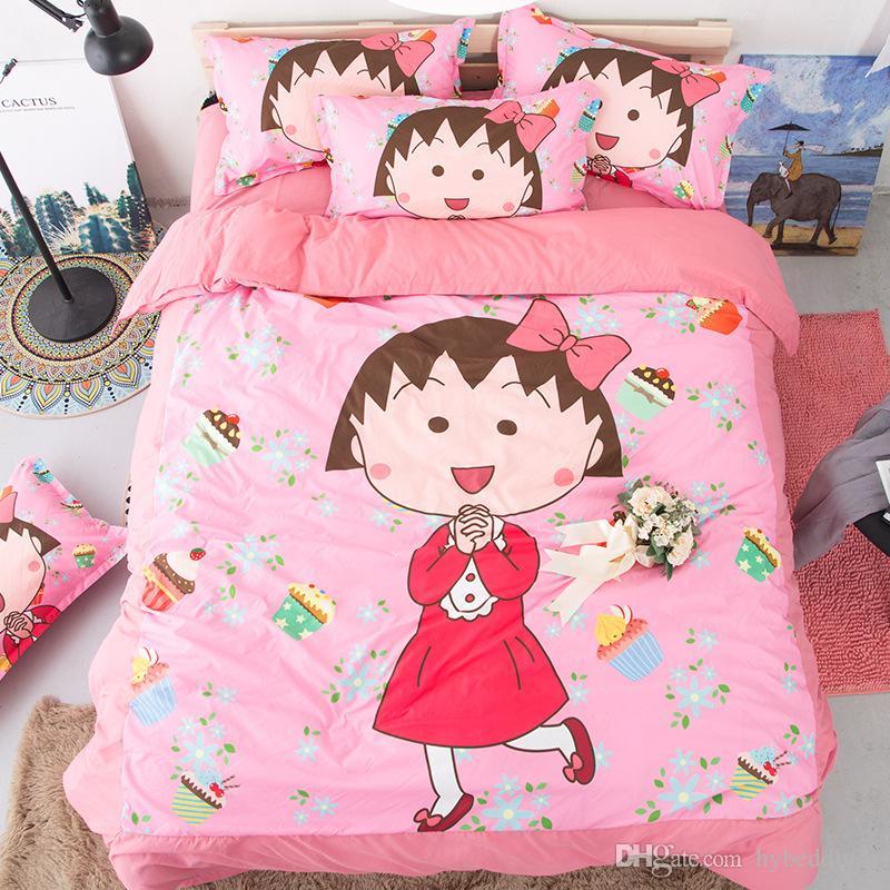 Unicorno Floral Cartoon Set biancheria da letto Pink Girl Carino copripiumino Imposta 3 PZ Twin Full Queen King Size copripiumino Set biancheria da letto ragazze