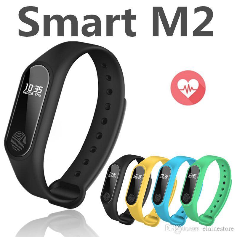 cd5fe5a7a6e8 M2 Fitness rastreador Reloj Banda Monitor de Ritmo Cardíaco Rastreador de  Actividad Impermeable Pulsera Inteligente Podómetro Llamada recordar Salud  Pulsera