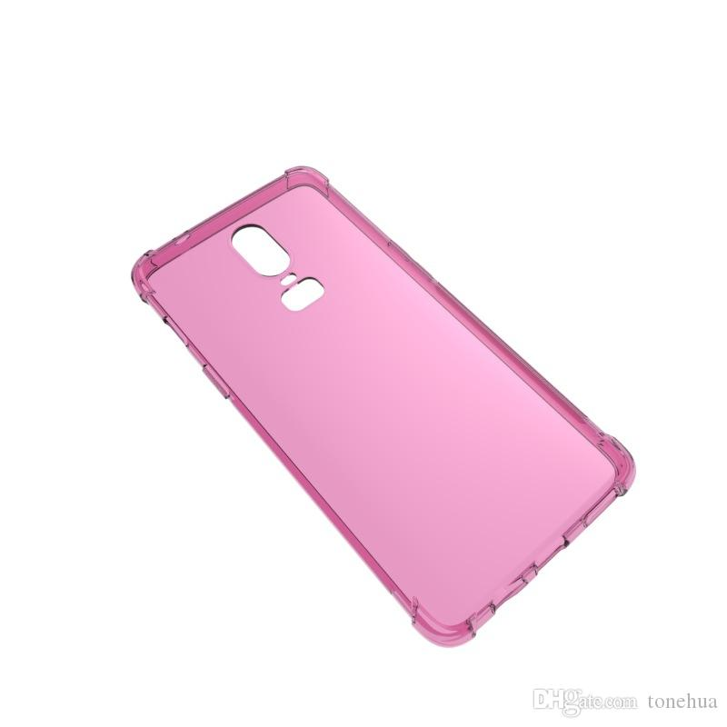 For OnePlus 6 Transparents Soft TPU Air Bag Scratchproof Phone Cases Ultra Thin Camera Protection Cover Froster Back Shell