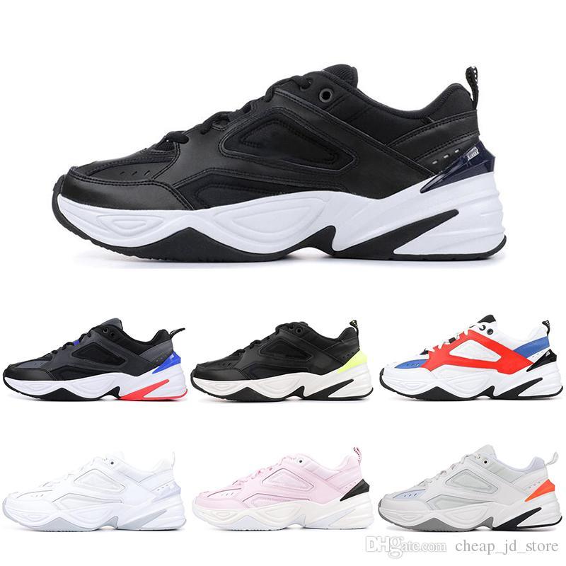 premium selection 179f1 47571 Acheter Nike 2019 New Arrivale M2K Tekno Papa Chaussures Hommes John  Elliott Paris Phantom Rose Noir Volt Blanc Entraîneur Femmes Course À Pied  Sneakers 36 ...