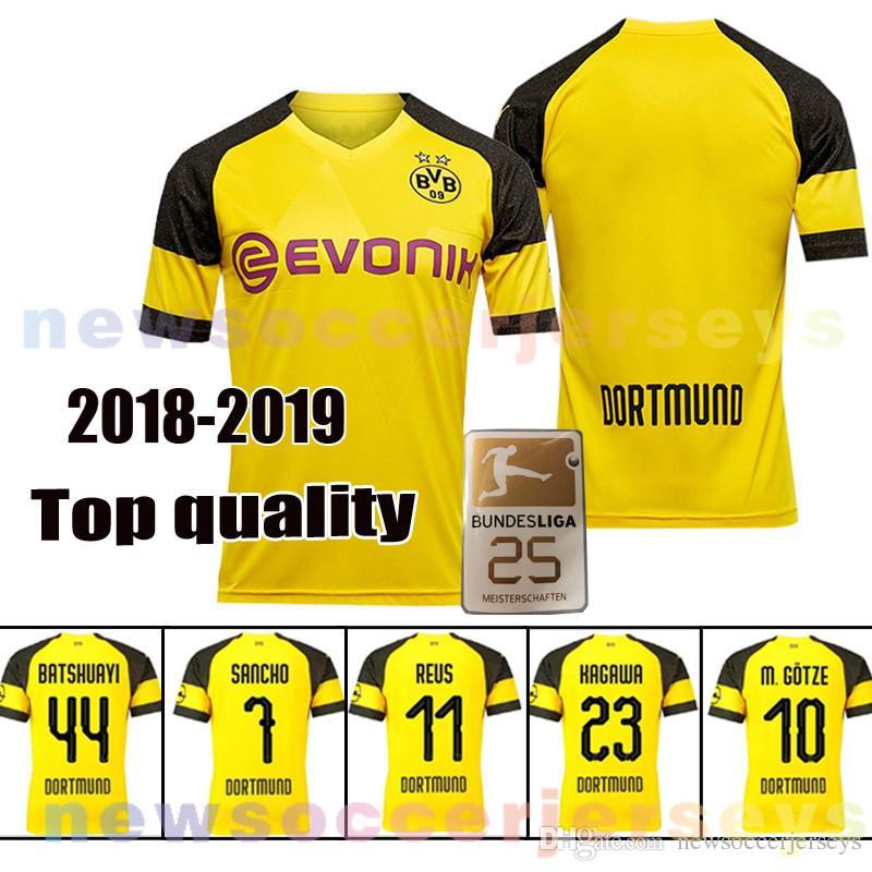58d16983b 18 19 Borussia Dortmund Reus JERSEY 10 M.GOTZE PULISIC Batshuayi PHILIPP  SANCHO 23 KAGAWA YARMOLENKO Schmelzer Batshuayi Borussia Dortmund Jersey  Kagawa .