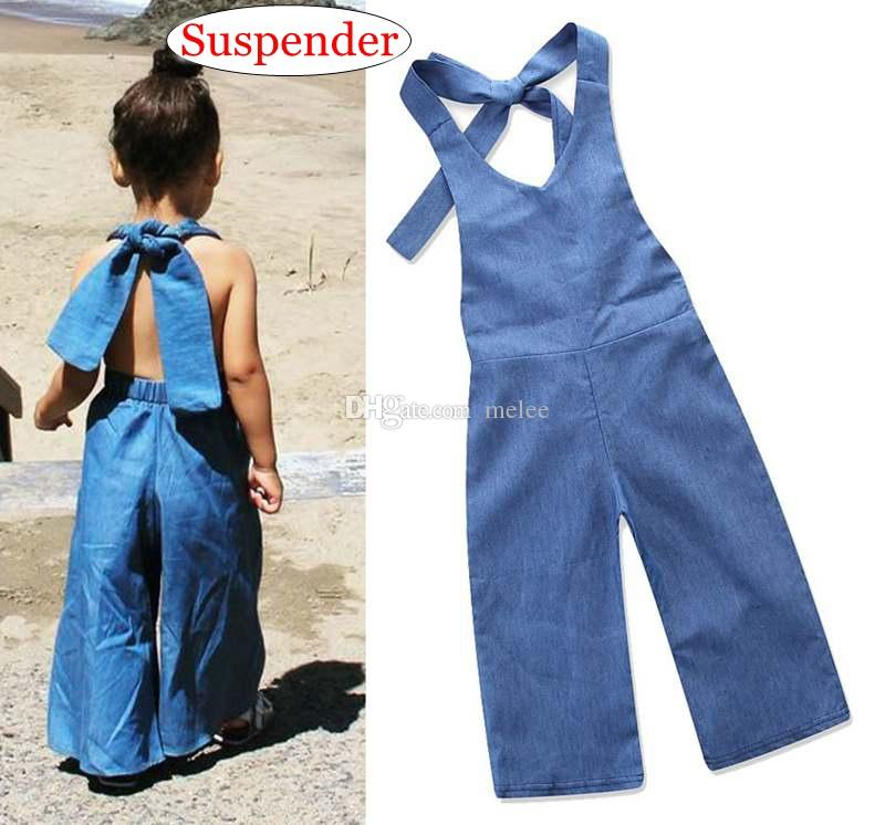 5d983cefd69 1-6Y INS Summer Baby Denim Blue Cotton Overalls Suspenders Kids ...