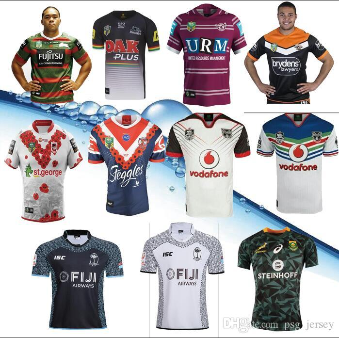 2019 18 19 Nrl Jerseys Rugby League Fiji South Africa Tigres Del Licey St.  George Memorial Rooster Leopard Seahawks Warrior Rugby Jerseys From  Psg jersey 26a0d3d3e