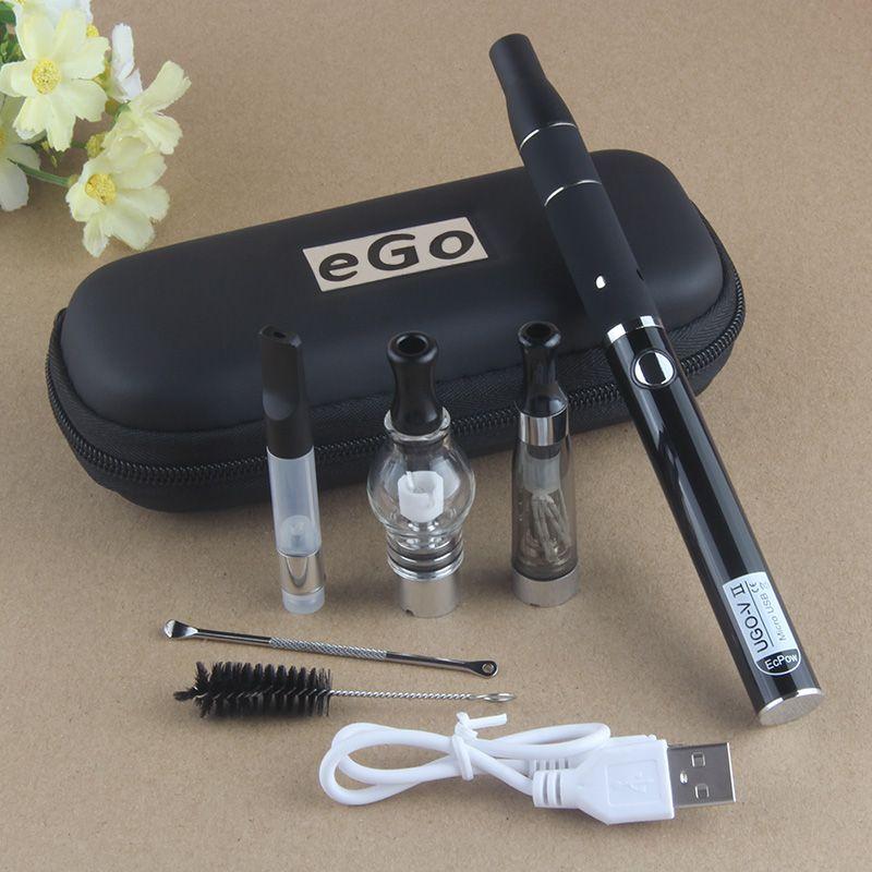 Ecigarette UGO 4 En 1 Vape Kit UGO-V II 510 batterie à filetage Avec atomiseur de cire en verre Globe Stylo CE3 O Stylo Vaporisateur eGo CE4 AGO à base de plantes