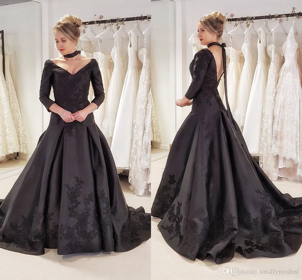 Imagenes de vestidos de novia color negro