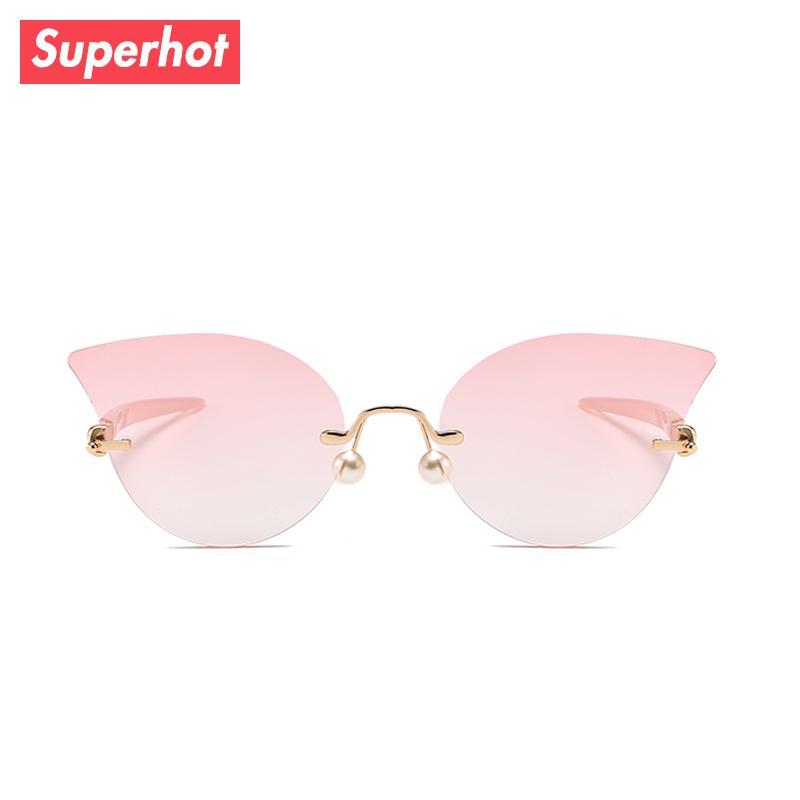 2c5b6df17b Superhot Eyewear 2018 New Rimless Cat Eye Sunglasses Fashion Women ...