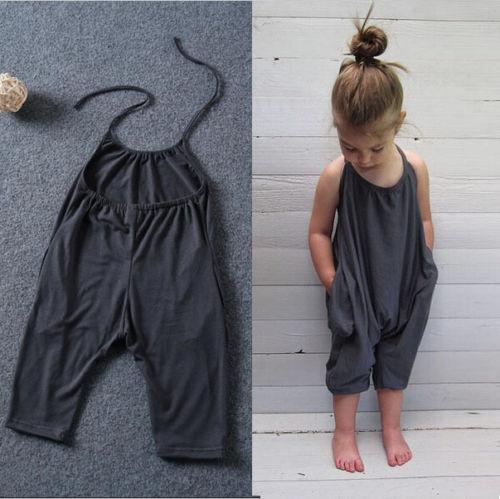 49999eb39de 2019 Fashion Kids Baby Girls Strap Cotton Romper Jumpsuit Harem Trousers  Summer Clothes From Jfyshop