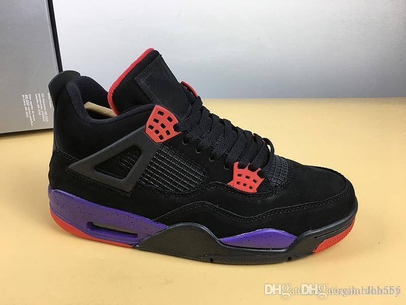2018 Newest Release 4 NRG Raptors Men Basketball Shoes Black University Red  Court Purple Athletic Sneakers Free Shipment AQ3816-056 NRG Raptors  Basketball ... fe5ad74a1