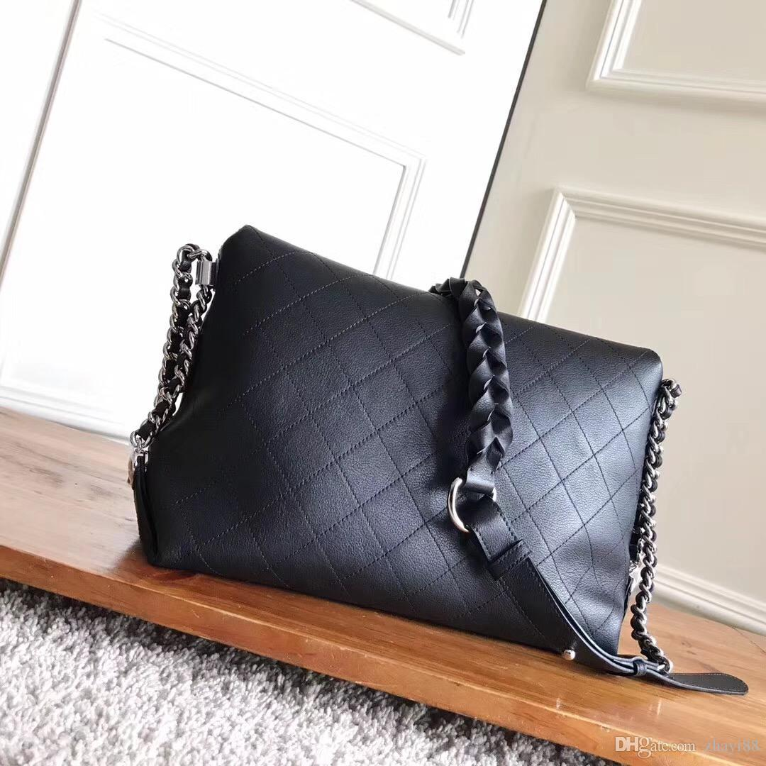 7bd3673644f Fashion Classic Bag Women Shoulder C Bag Cowhide REAL Leather Handbags Maxi  Genuine Leather Flap Tote Womens Chain Female Messenger Bags Weekend Bags  For ...