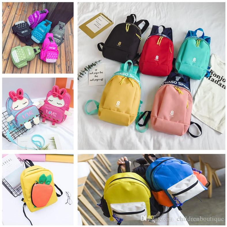 2018 Kids Backpack Kindergarten Girls Boys School Bags Cartoon