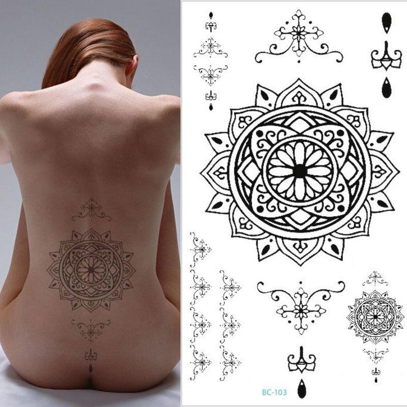 Grosshandel Schwarz Manner Frauen Grosse Narbe Abdeckung Flash Tattoo