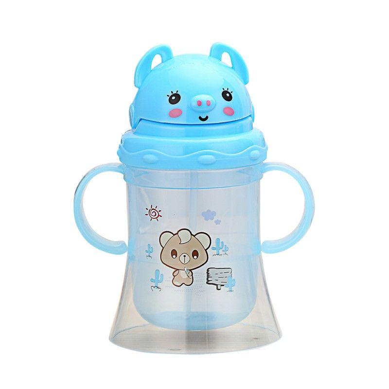 Mutter & Kinder Baby Flasche Kinder Kinder Lernen Fütterung Trinkwasser Stroh Flasche Mamadeira Sippy Ausbildung Tasse Baby Fütterung Tasse 350 Ml Flaschen