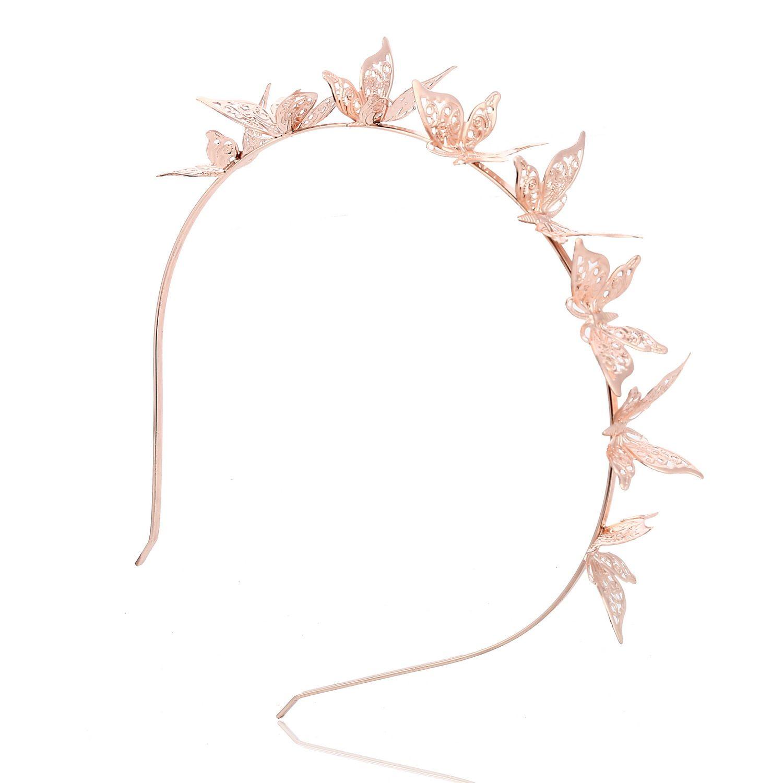 Cat Ears Crown Tiara Headbands for Women Hair colorful Rhinestone Princess Hollow Hairband Cat's ears Bezel cute butterfly Hair Accessories