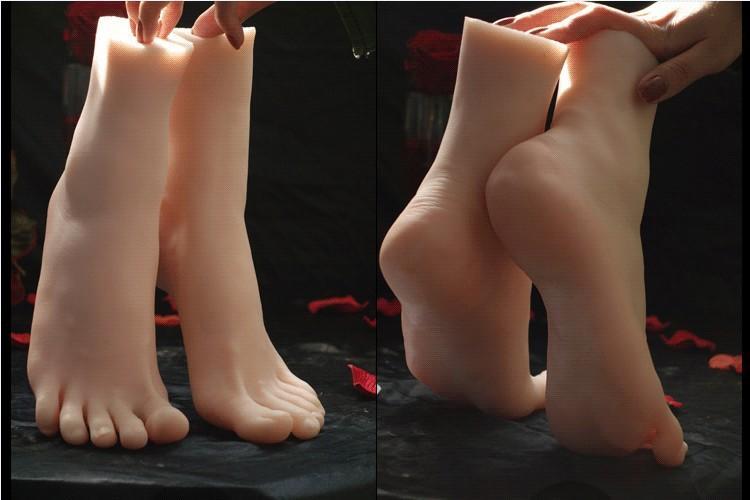 Verdadeira Pele Bonecas Sexuais Japonês Masturbação Cheia de Silicone Tamanho da Vida Pés Falsos Brinquedo Fetiche Do Pé Sexy Brinquedos Modelo de Pé