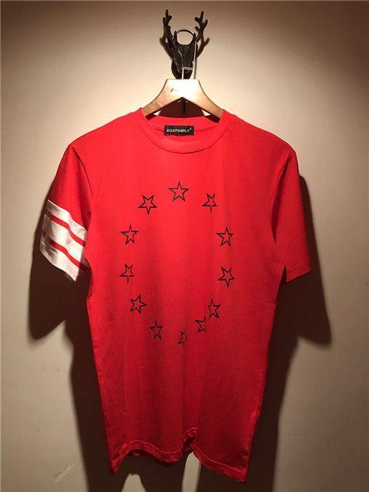Summer Mens T Shirt 2018 New Fashion brand contrast color stripe stars printing T Shirt Mens Clothing Short Sleeve Casual Mens Top Tee