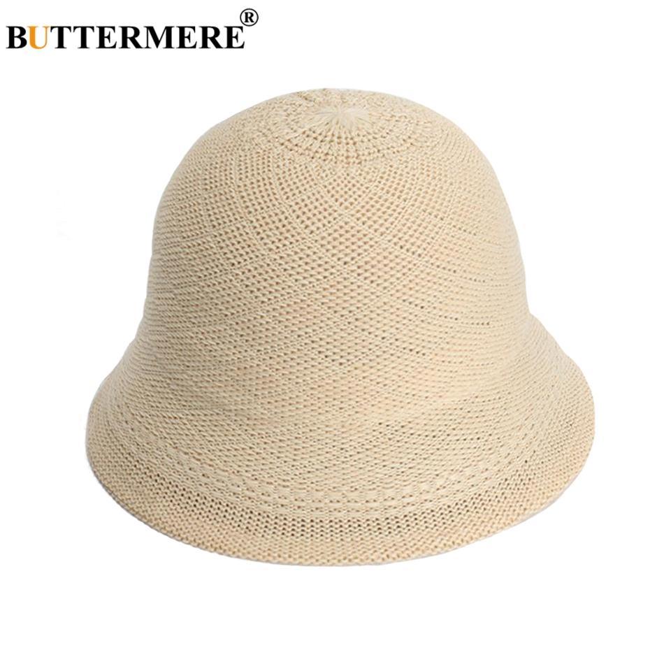ea7a1e2e6ec9c2 BUTTERMERE Women Bucket Hat Cotton Beige Fishing Hats Female Foldable  Vintage Bob Hat Ladies Casual Autumn Fishing Caps 2018 Kentucky Derby Hats  Trucker ...
