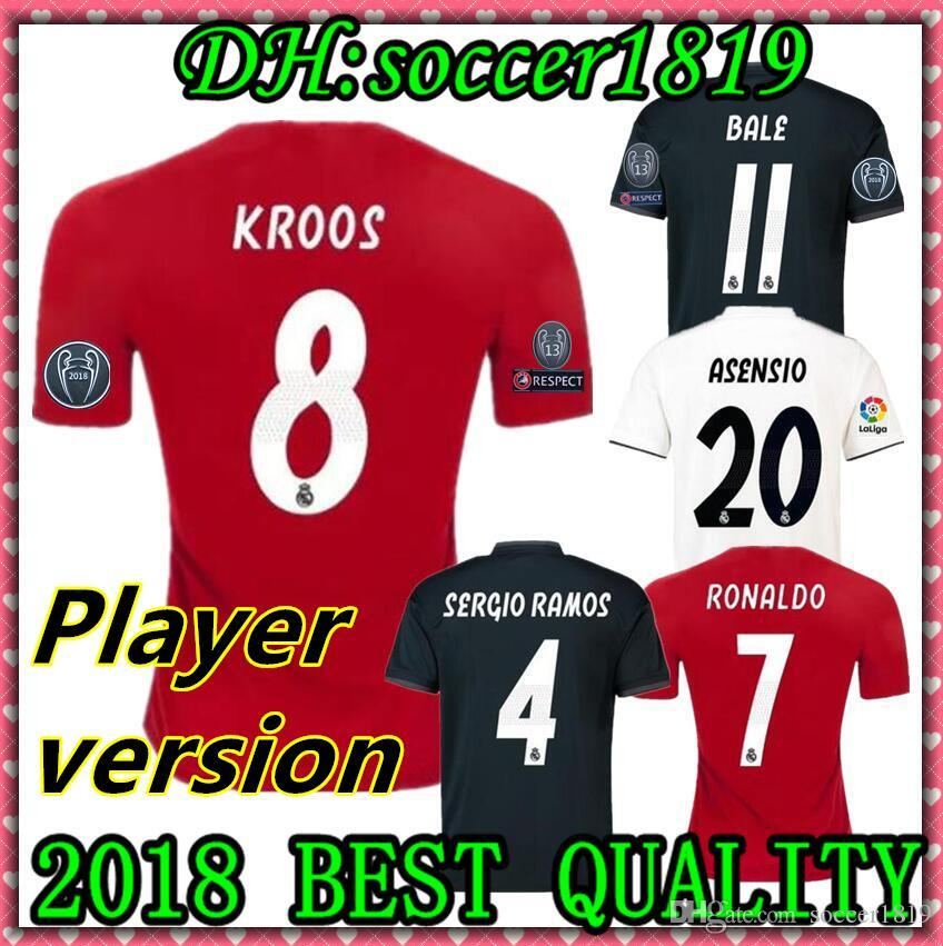4d1d766c6 New Player Version 18 19 Real Madrid Soccer Jersey BALE ASENSIO ...