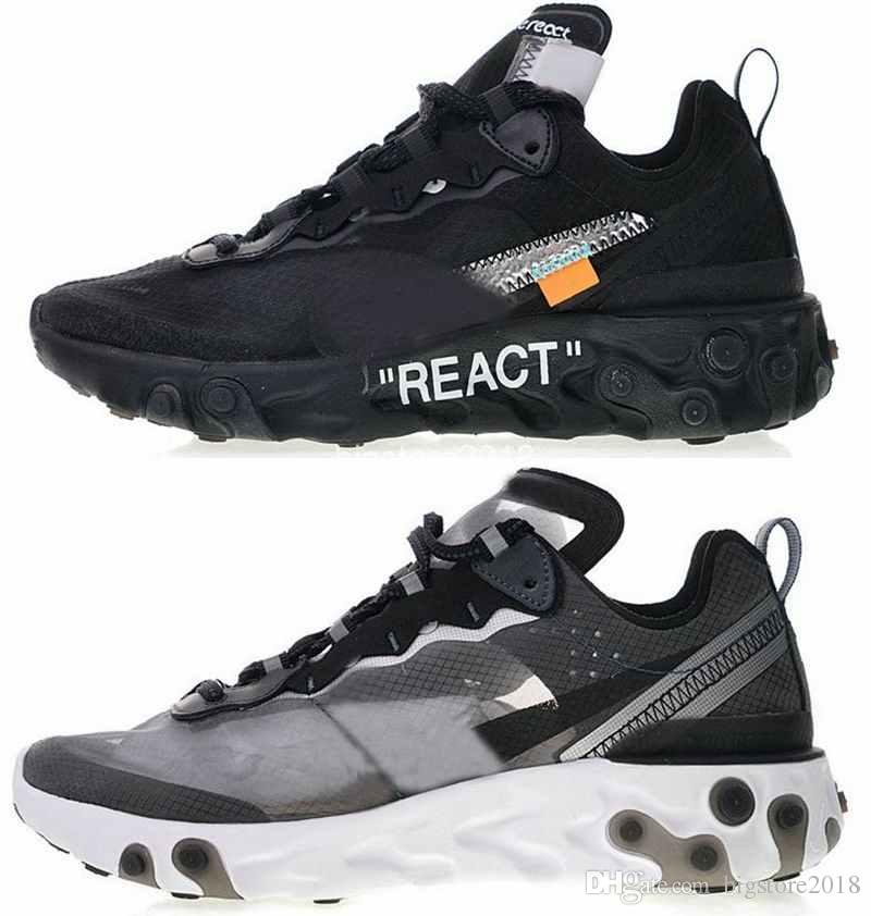 the latest 7b8dc dc40b Compre 2018 Nuevo Undercover X Upcoming React Element 87 Pack Zapatillas  Épicas Triple Blanco Hombres Mujeres Sports Trainers Diseñador Luxury De  Chaussure ...
