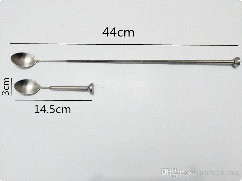Stainless Steel Retractable Bar Spoon Pocket Bar Tool Adjustable Stirring Spoon Cocktail Drink Barware Supplies ZA6741