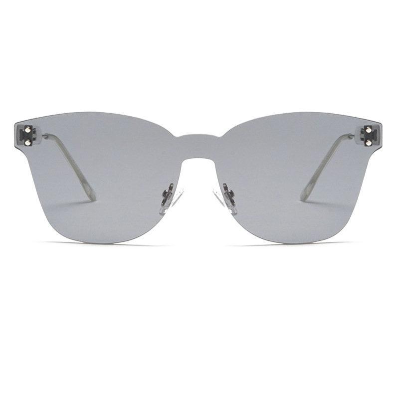 baadc5b5c280c Oversized Rimless Sunglasses Women 2018 Brand Designer Sun Glasses ...