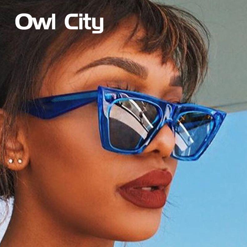 f6228234a Compre Coruja Cidade Olho De Gato Mulheres Óculos De Sol Da Marca ...