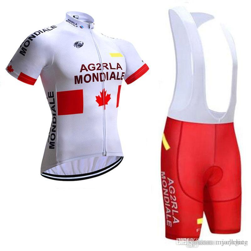 AG2R Team New Comming Cycling Short Sleeves Jersey Bib Shorts Sets Mountain  Bike Clothes Quick Dry Cycling Sets Breathable C0701 AG2R Cycling Jersey  Ropa ... 07ad73199