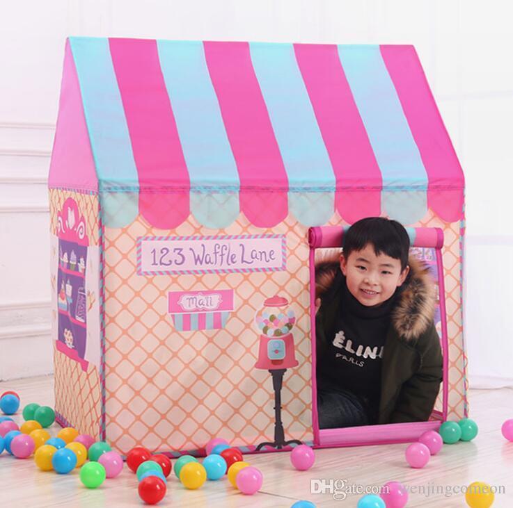 خيام الأطفال المحمولة أطفال خيمة ديي مسرح طوي فتاة الأميرة قلعة داخلي الخيام للأطفال أطفال اللعب متجر الخبز