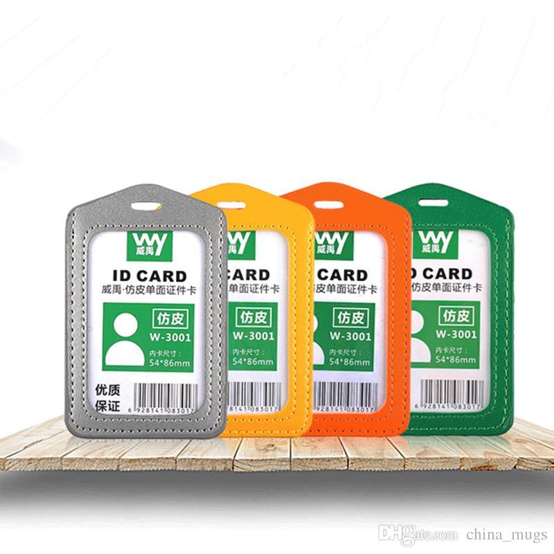 2018 Nuova società Forniture ufficio Fabbrica Indici Francobolli Azienda id Holder Carta di lavoro Distintivi Tag Set di carte Cordino Vendita
