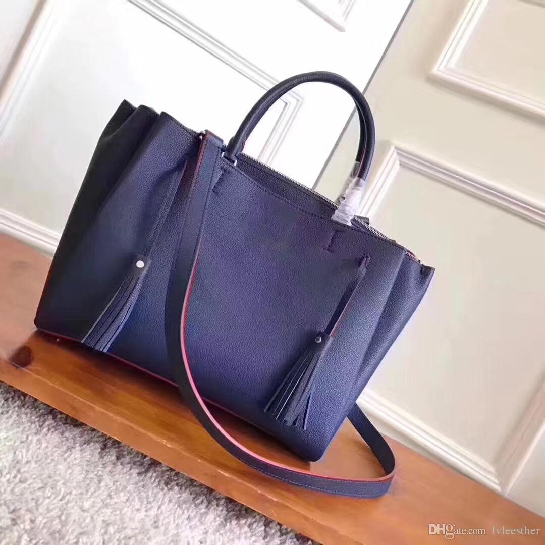 d09db1107b8a0 Großhandel Lackleder Top Qualität Größe  37.5x25cmx12.2 2018 Luxusmarke Frauen  Taschen Designer Handtaschen Damen Handtasche Damen Shop Taschen Rucksack  ...