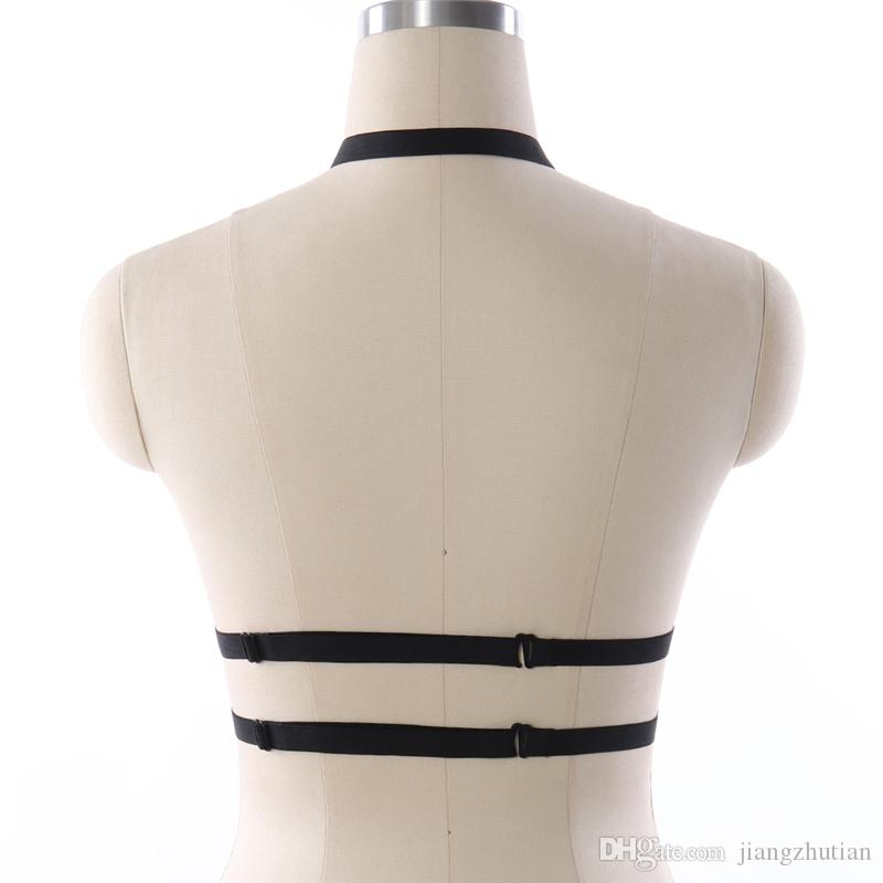 90's cupless lingerie mulheres arnês harness belt harness belt sexy moda lingerie harness gaiola bra