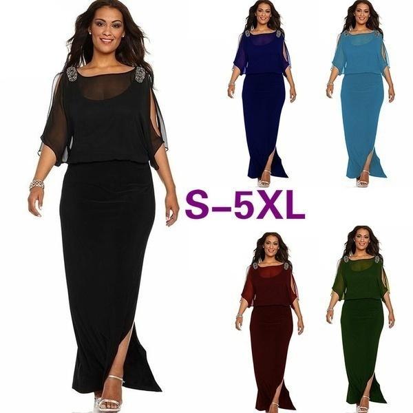 f4941554d 2018 Women s Fashion Plus Size Sexy Vestidos De Fiesta Fashion Wedding  Dress Causal Roupas Feminina Black Long Dress Mesh Off Should Dress