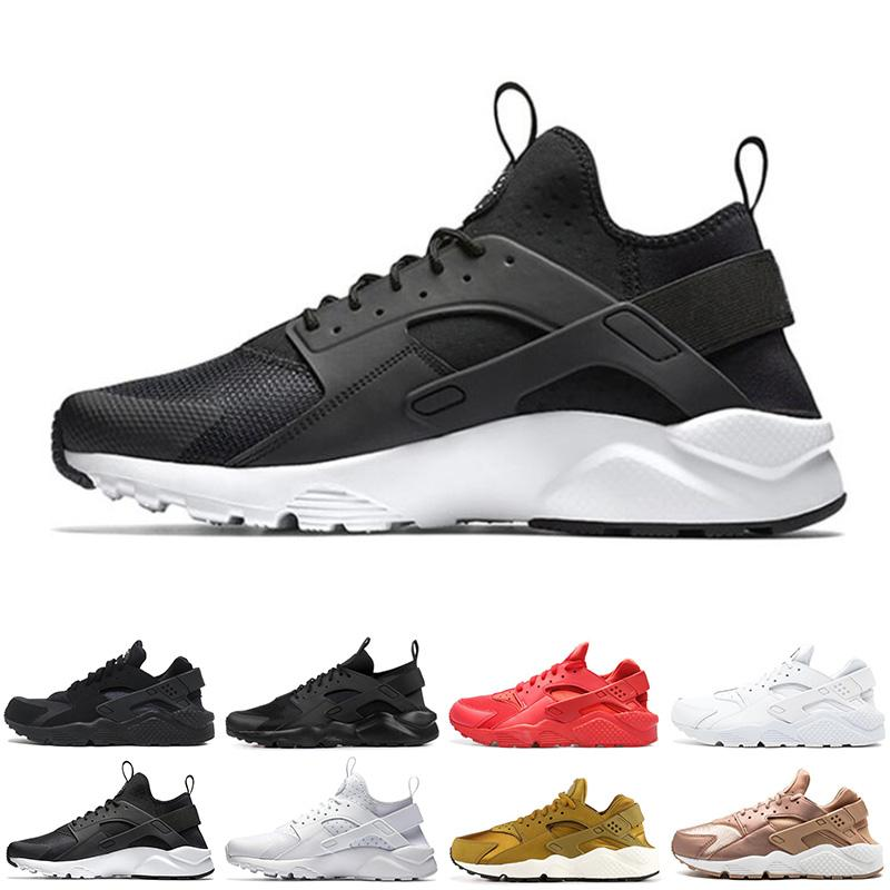super cute c4f1a 8a7ac Air Huarache Men Women Running Shoes Triple White Red Grey Black Designer  Huaraches Mens Trainers Sports Sneakers Size 36 45 Fast Shipping Shoes  Running ...